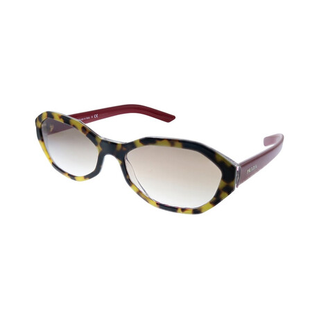Women's PR20VS-5144O056 Sunglasses // Havana + Red + Gradient Brown