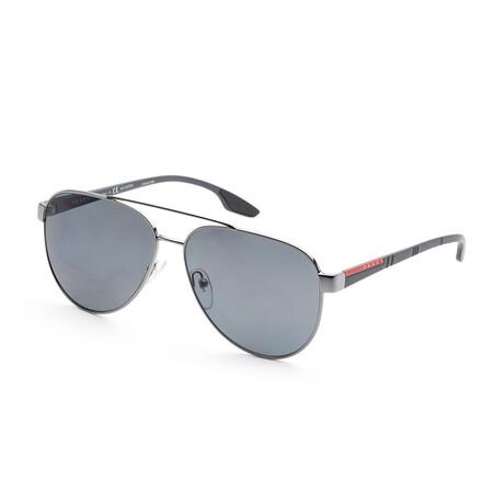 Prada // Men's PS54TS-5AV5Z161 Polarized Sunglasses // Gunmetal + Gray