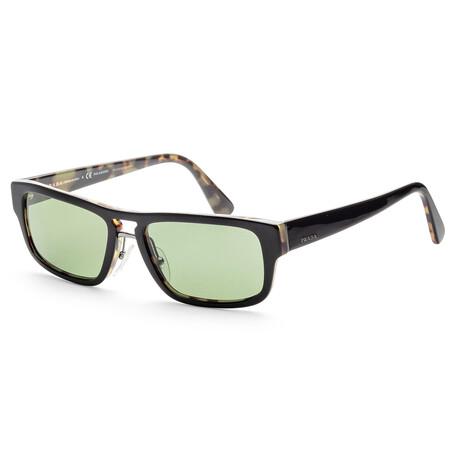 Prada // Men's PR05VS-NAI7Y156 Polarized Sunglasses // Black + Havana + Green