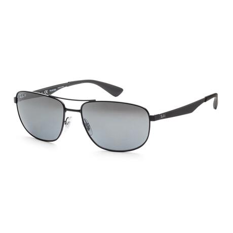 Ray-Ban // Men's RB3528-006-8261 Active Polarized Sunglasses // Matte Black + Gray Mirror