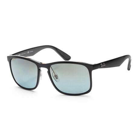 Men's RB4264-601-J058 Chromance Polarized Sunglasses // Black + Blue Mirror