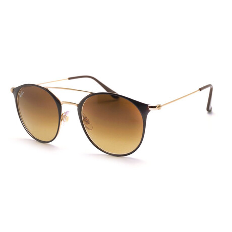 Ray-Ban // Unisex RB3546-90098552 Sunglasses // Gold + Brown Gradient