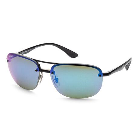 Ray-Ban // Men's RB4275CH-601-A1 Chromance Polarized Sunglasses // Black + Green