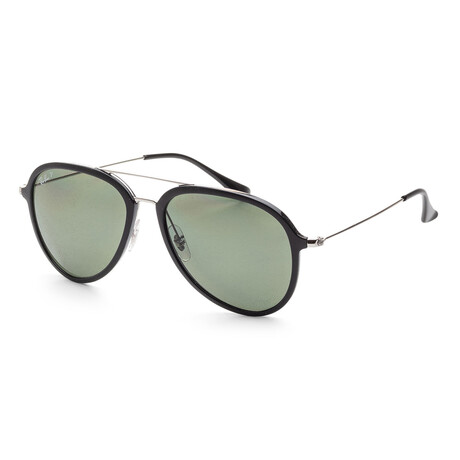 Ray-Ban // Unisex RB4298-601-9A Polarized Sunglasses // Black + Polar Green