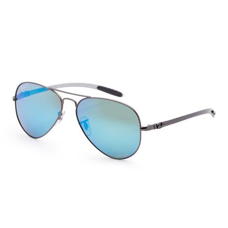 Men's RB8317CH-029-A158 Chromance Polarized Sunglasses // Matte Gunmetal + Blue