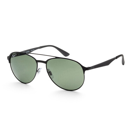 Ray-Ban // Men's RB3606-186-9A59 Polarized Sunglasses // Gold + Brown Gradient