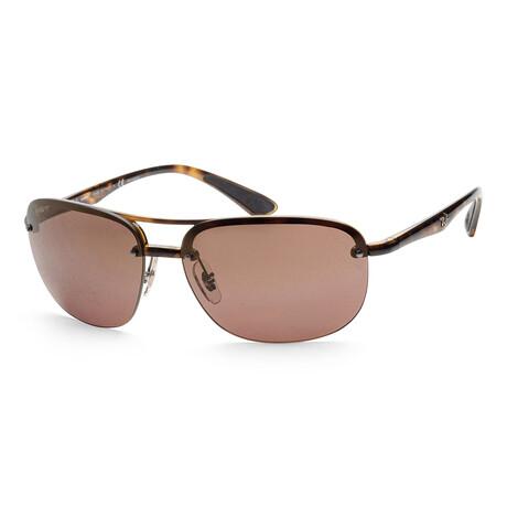 Ray-Ban // Men's RB4275CH-710-6B63 Chromance Sunglasses // Havana + Clear Gradient Blue