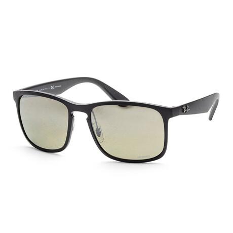 Ray-Ban // Men's RB4264-601S5J58 Chromance Sunglasses // Matte Black + Gradient Brown