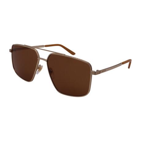 Men's GG0941S-003 Pilot Sunglasses // Gold