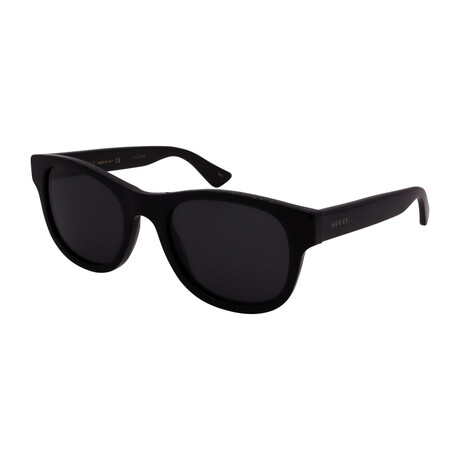 Unisex GG0003S-001 Oval Sunglasses // Black