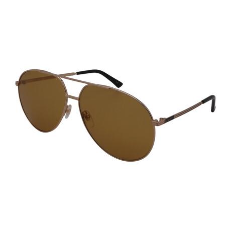 Unisex GG0832S-003 Aviator Sunglasses // Gold