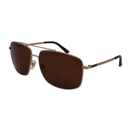 Men's GG0836SK-002 Aviator Sunglasses // Gold