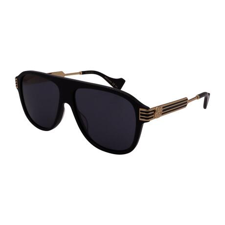 Men's GG0587S-001 Aviator Sunglasses // Black