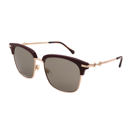 Unisex GG0918S-003 Square Sunglasses // Burgundy