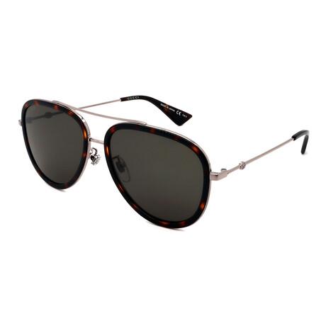 Unisex GG0062S-002 Aviator Sunglasses // Havana