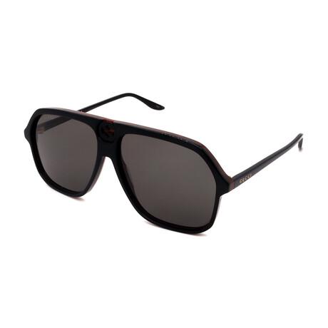 Men's GG0734S-001 Pilot Sunglasses // Black