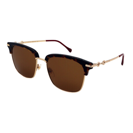 Unisex GG0918S-002 Square Sunglasses // Havana