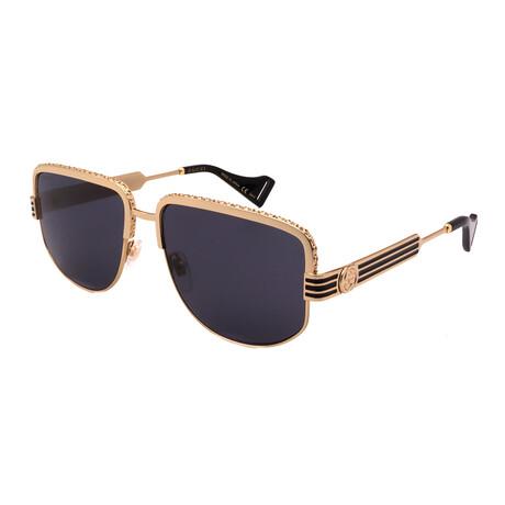 Men's GG0585S-001 Aviator Sunglasses // Gold