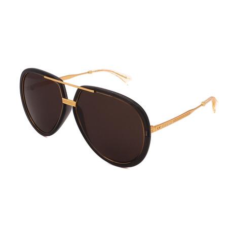 Unisex GG0904S-001 Pilot Sunglasses // Gray + Gold