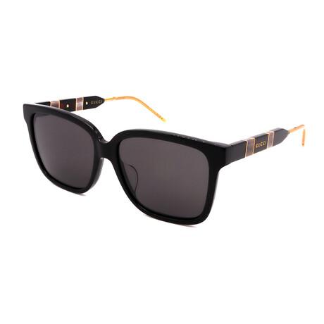 Unisex GG0599SA-001 Square Sunglasses // Black