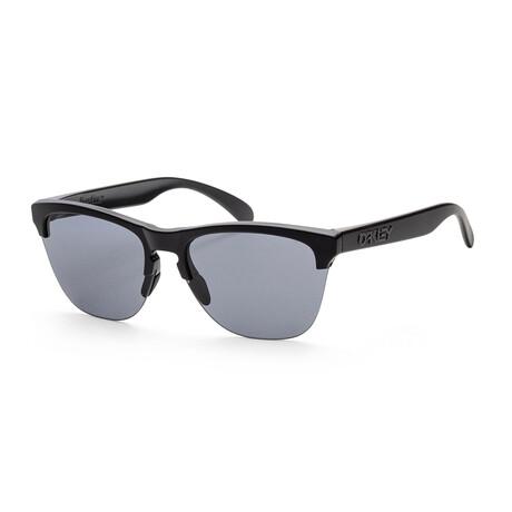 Oakley // Men's OO9374-01 Sport Sunglasses // Matte Black + Gray