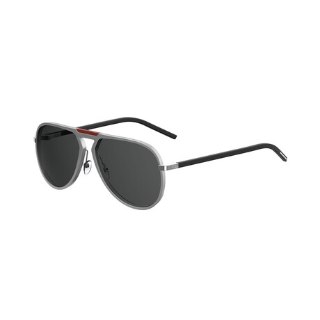 Christian Dior// Men's Aviator Sunglasses // Ivory Black + Gray