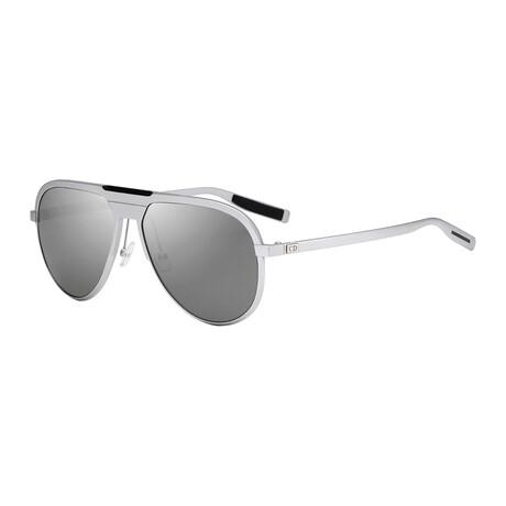 Christian Dior// Men's Pilot Sunglasses // Matte Palladium + Gray