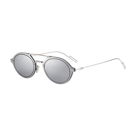 Men's DIORCHROMA3 Sunglasses // Silver + Silver