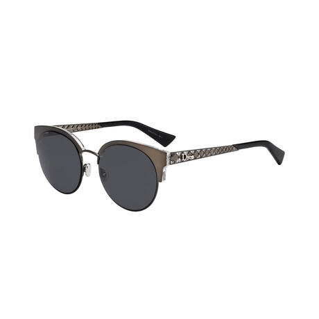 Christian Dior// Women Cat Eye Sunglasses // Black + Gray Blue
