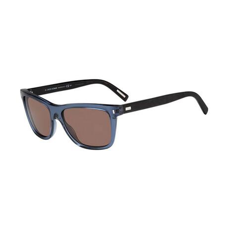 Men's BLACKTIE154S Sunglasses // Blue + Black + Brown