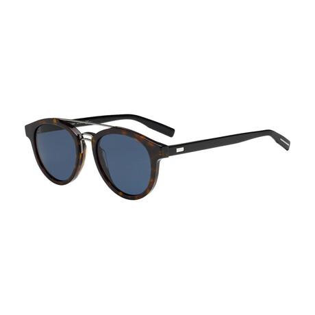 Christian Dior// Men's Square Sunglasses // Darkhavana Black + Blue