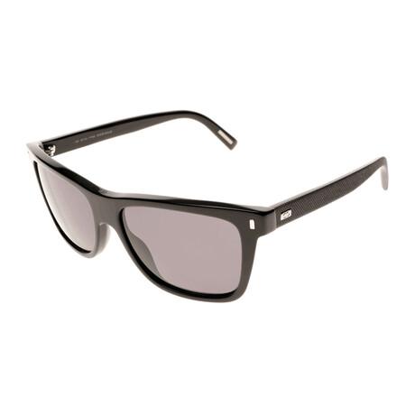 Christian Dior// Men's Square Sunglasses // Black + Gray