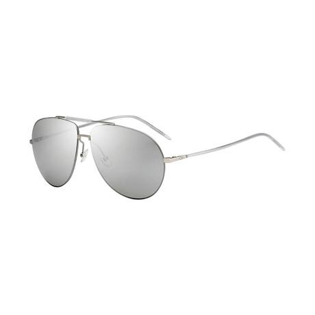 Christian Dior// Men's Aviator Sunglasses // Silver