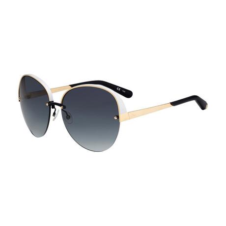 Christian Dior// Women Oversize Sunglasses // Matte White + Gold + Black + Gray
