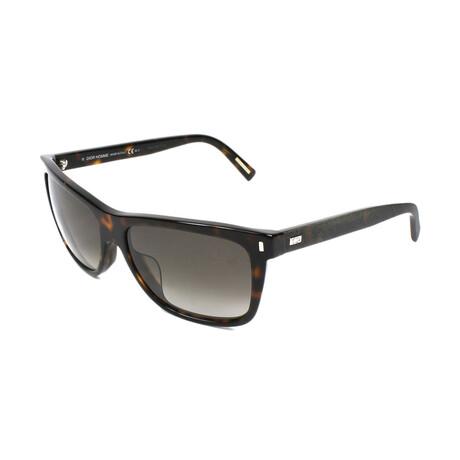 Christian Dior// Men's Square Sunglasses // Dark Havana + Brown