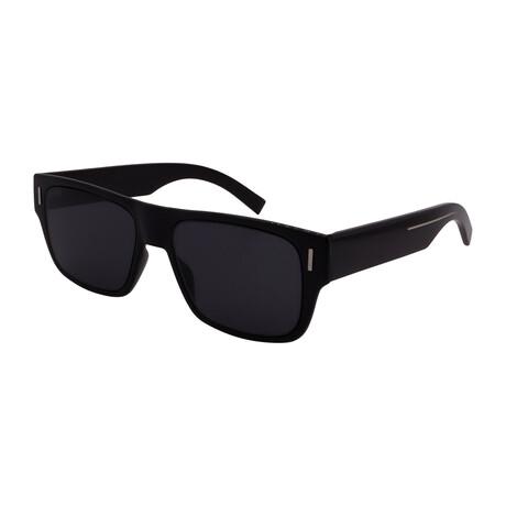 Men's FRACTION-4-807 Square Sunglasses // Black