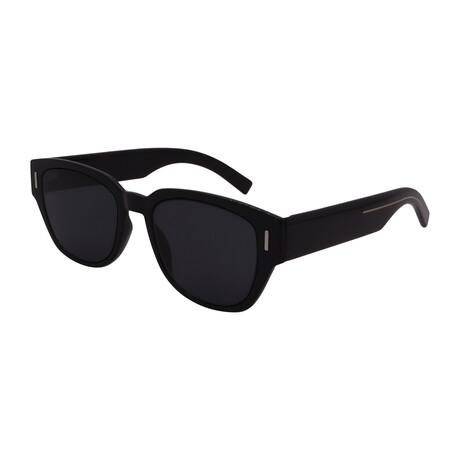Men's FRACTION3-807 Square Sunglasses // Black