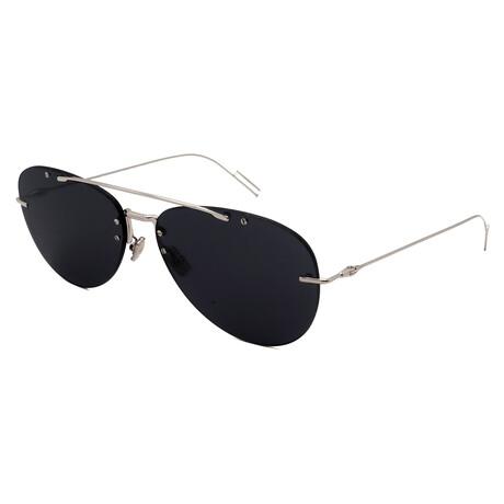 Men's CHROMA-1F-010 Pilot Sunglasses // Silver