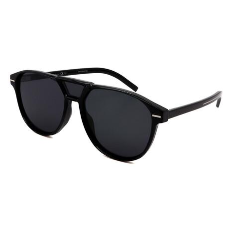 Men's BLACKTIE-266S-086 Square Sunglasses // Dark Havana
