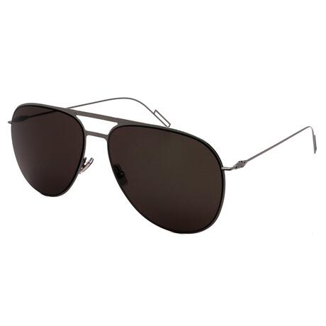 Dior // Men's 205S-KJ1 Aviator Sunglasses // Dark Ruthenium