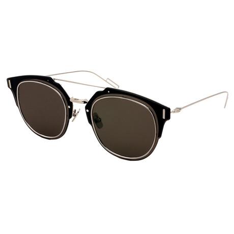 Men's COMPOSIT-1.0-010 Square Sunglasses // Black + Silver