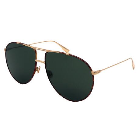 Men's MONSIEUR1-21K Aviator Sunglasses // Havana + Gold