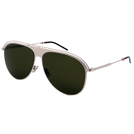 Dior // Unisex 217S-KTU Aviator Sunglasses // Palladium Green