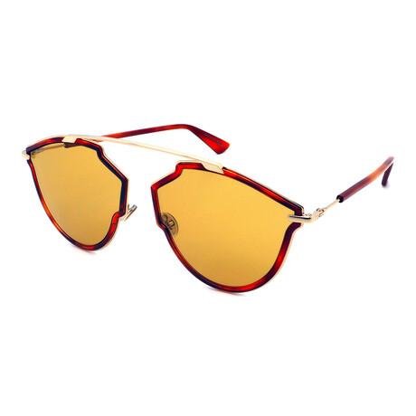 Unisex SO-REAL-RISE-6J Pilot Sunglasses // Gold + Havana