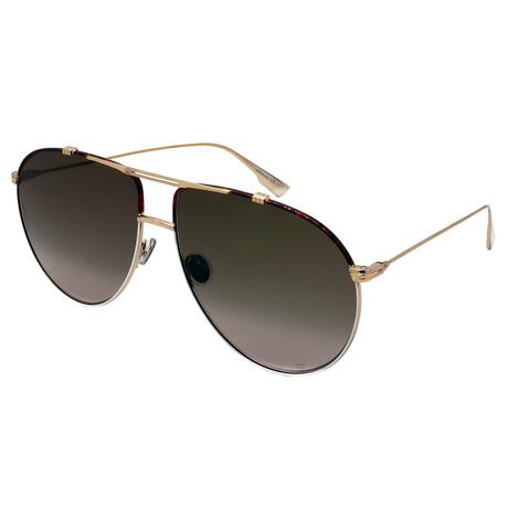 Men's MONSIEUR1-24W Aviator Sunglasses // Gold + White + Havana