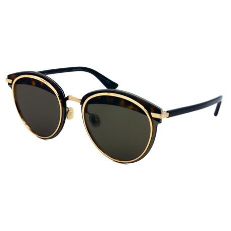 Dior // Men's OFFSET-1-581 Square Sunglasses // Brown Tortoise