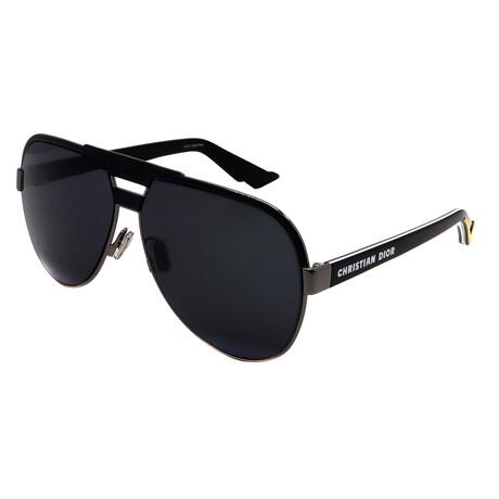 Dior // Men's FORERUNNER-V81 Aviator Sunglasses // Black + White + Yellow