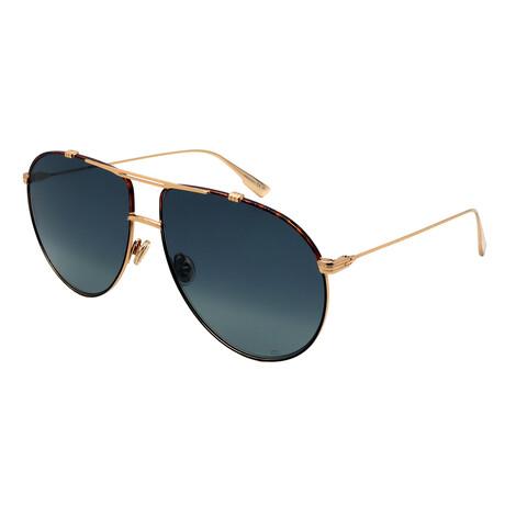 Dior // Men's MONSIEUR1-XWY Aviator Sunglasses // Dark Havana + Gold