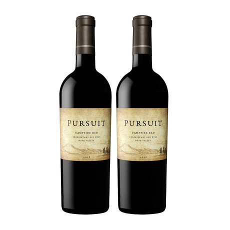 """93 Point Pursuit """"Campfire"""" Proprietary Napa Red Wine // Set of 2 // 750 ml Each"""