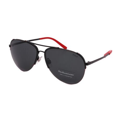 Polo // Men's PH3118-900387 Aviator Sunglasses // Black